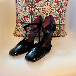Via Spiga Italian Leather Suede Heels Sz 8